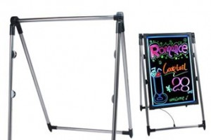 Lighting boards Easel
