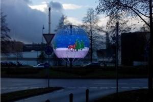 LED spheres 6 meters