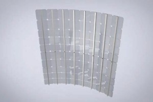 Transparent displays LED columns